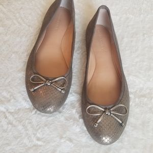 Metallic Pewter Ballet Flat by Banana Republic